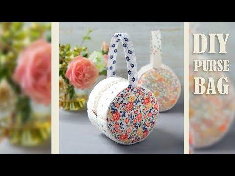 DIY LOVELY PURSE BAG DESIGN // Cute Round Zipper Handbag Tutorial By Own Hands