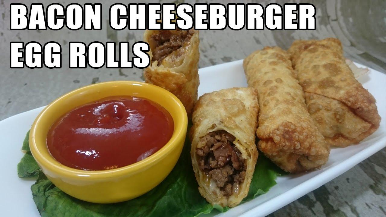 bacon cheeseburger egg roll