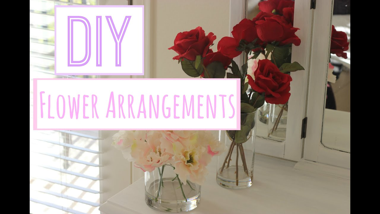 Diy Flower Arrangements With Acrylic Water Youtube
