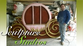 Disney Backdrop Theming, Polystyrene / Styrofoam Carving by Sculpture Studios