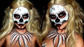 Witch Doctor Halloween Makeup / Face Paint