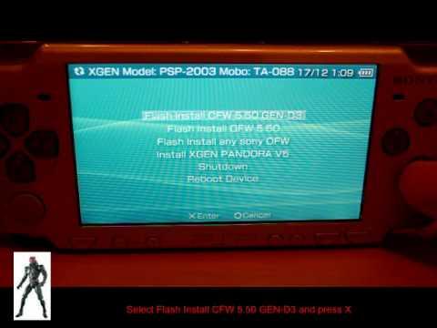 FLASH 5.50 TÉLÉCHARGER GEN-D3 PSP