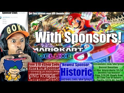 Nintendo Switch Gaming With Sponsors! Mario Kart 8 Deluxe! Rocket League!