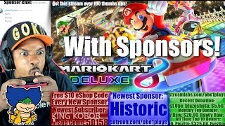 Nintendo Switch Gaming With Sponsors! Mario Kart 8 Deluxe! Rocket League! FIFA 18