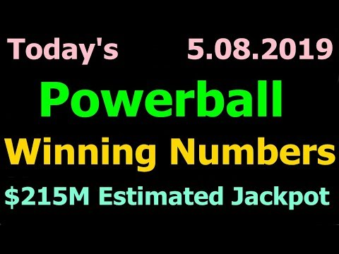 Powerball winning numbers march 8 2019