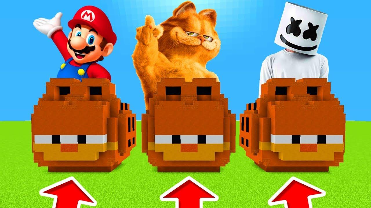 Minecraft Pe Do Not Choose The Wrong Garfield Marshmello Garfield Mario Youtube