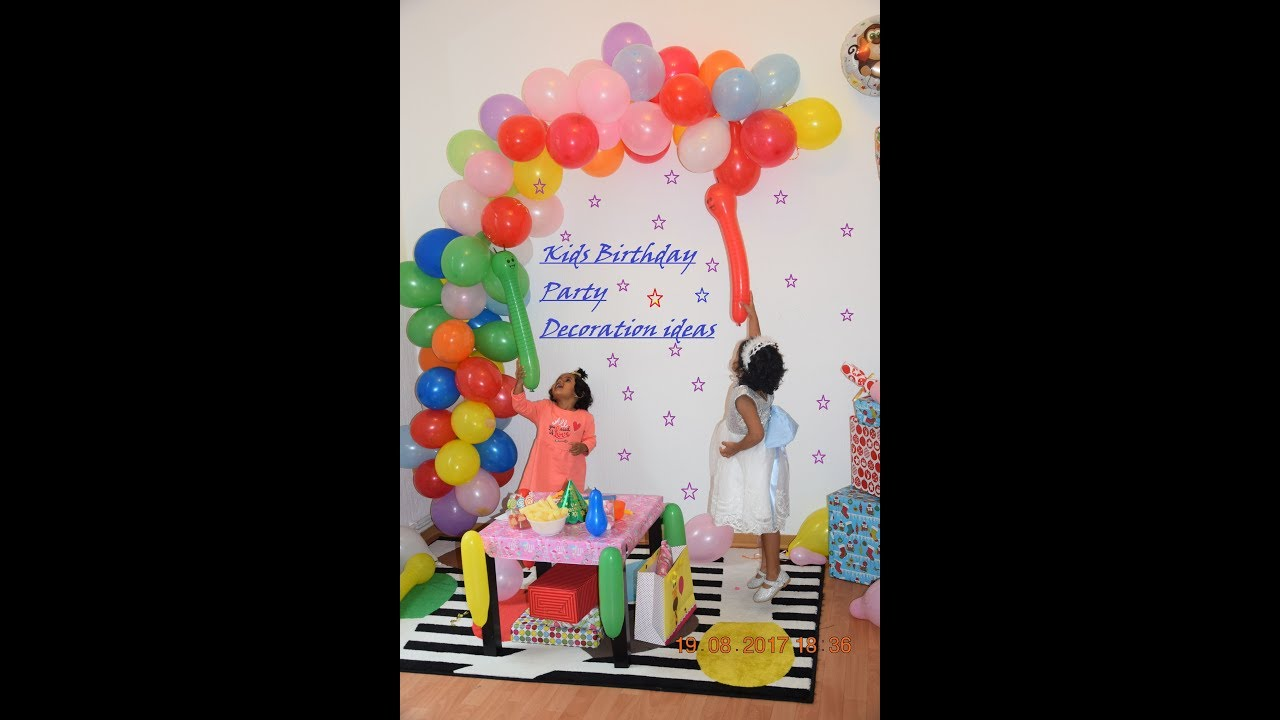 diy quick and simple kids party decoration at home youtube