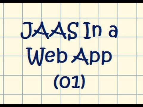 JAAS In A Web Application - Tutorial 01