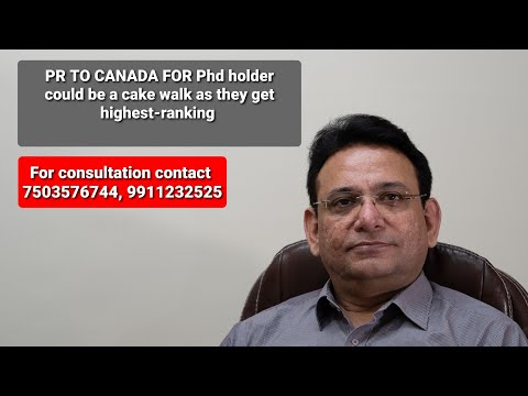 Permanent Residency In Canada Under EXPRESS ENTRY (PR) For A PhD | #acecampus | #9911232525