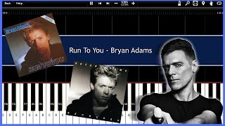 Run To You - Bryan Adams (Synthesia) [Tutorial] [Instrumental Video] [Download]
