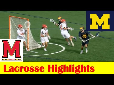 Michigan vs Maryland Lacrosse Game Highlights, 2021 Big 10 Tournament Semifinal