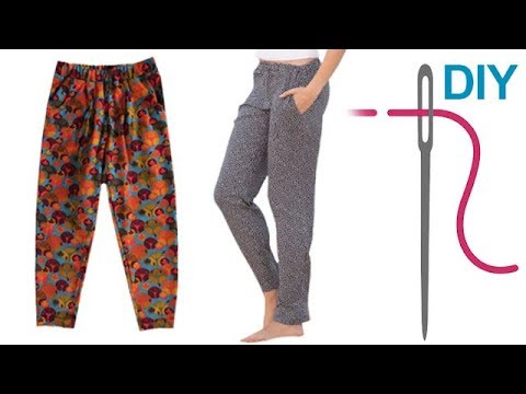 Hose nähen für Anfänger – DIY legere Hose mit Gummizug \