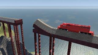 Calculated Train Stunts #1 - beamng drive