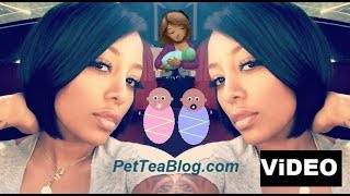 K Michelle Expecting Twins, They're DUE in February 2019 - ViDEO Proof