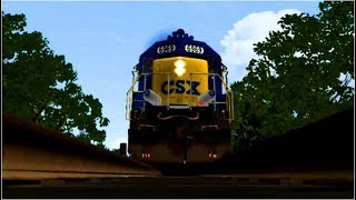 CSX Trains Runs Over Camera - Train Simulator 2018