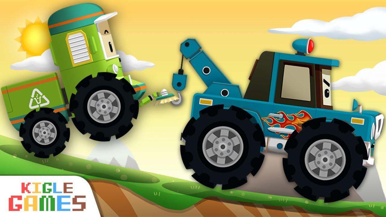 차 수리합니다   로보카 폴리 정비놀이   경찰차 구급차 소방차 청소차 견인차 렉카 출동 중장비 자동차 세차 놀이   키글 게임   KIGLE GAMES