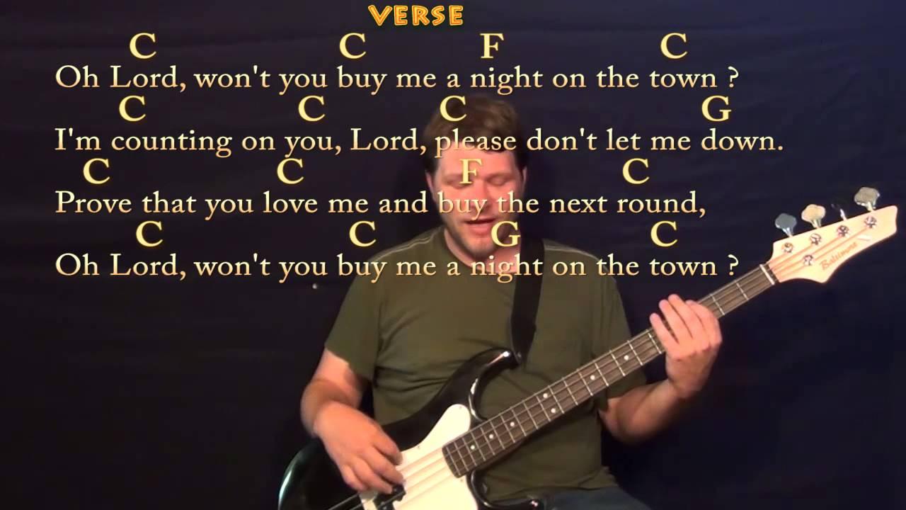 Mercedes Benz (Janis Joplin) Bass Guitar Cover Lesson in C ...