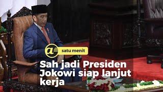 Sah jadi Presiden Jokowi siap lanjut kerja