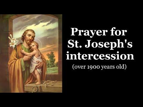 Prayer for St. Joseph's intercession