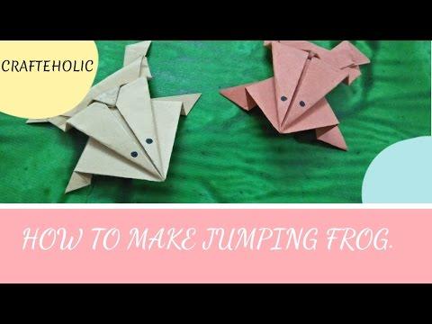 How to make jumping frog | origami frog | diy jumping frog|diy paper craft