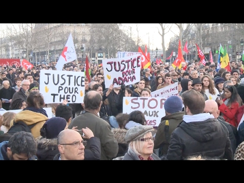 Paris Protesters Decry Police Abuse Amid Skirmishes