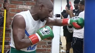 Floyd Mayweather Looks Slow & Winded in McGregor Fight Workout