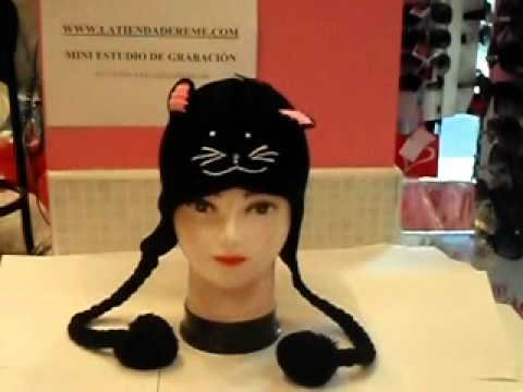 Gorro Coletas Gato Negro - YouTube d65cd6efabf