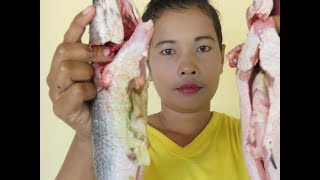 Awesome Cooking Big  Grill Fish With Recipe New   Village Food Factory