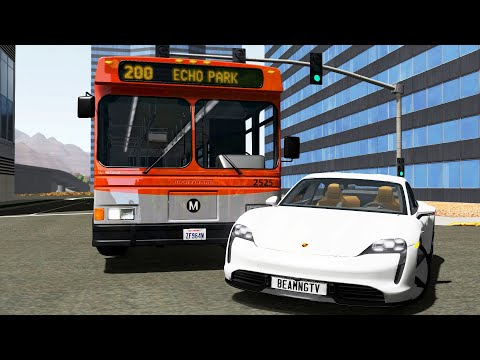 City & Highway Bus Crashes 8 - BeamNG.Drive