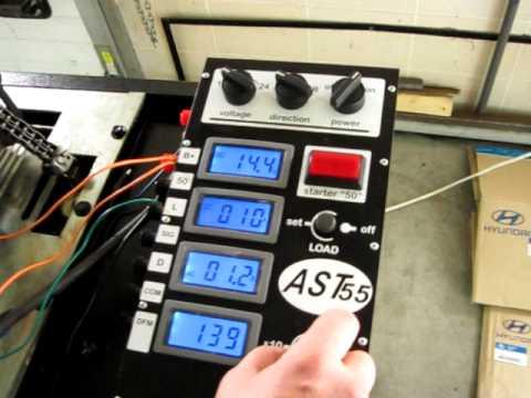 Проверка генератора на стенде