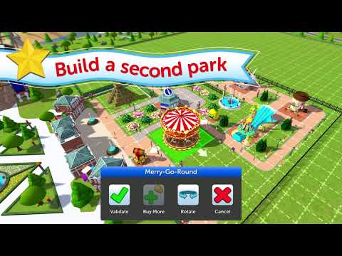 RollerCoaster Tycoon Touch Scenarios Update Trailer - YouTube