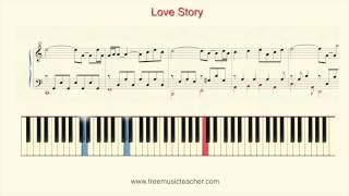 "How To Play Piano Richard Clayderman ""Love Story"" Piano You Tutorial by Ramin Yousefi"