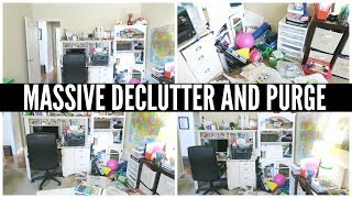 THE HARDEST DECLUTTERING PROJECT EVER 😩 Extreme Declutter with me | Dealing with Decision Fatigue