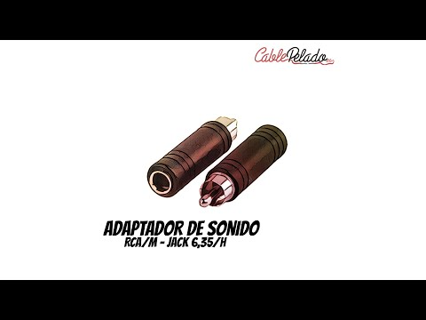 Video de Adaptador audio mono jack 6.35 hembra - RCA macho  Negro