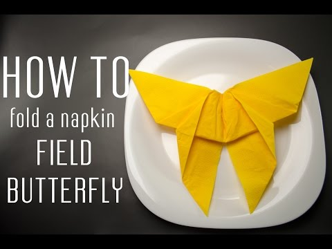 How to Fold a Napkin into a Field Butterfly