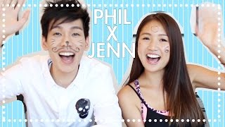 🎃俏俏話挑戰 ft. 林奕匡Phil Lam The Whisper Challenge  | Pumpkin Jenn🎃