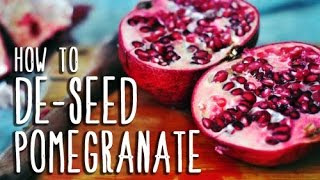 How To Deseed A Pomegranate In 10 Seconds | Quick & Easy Without Mess