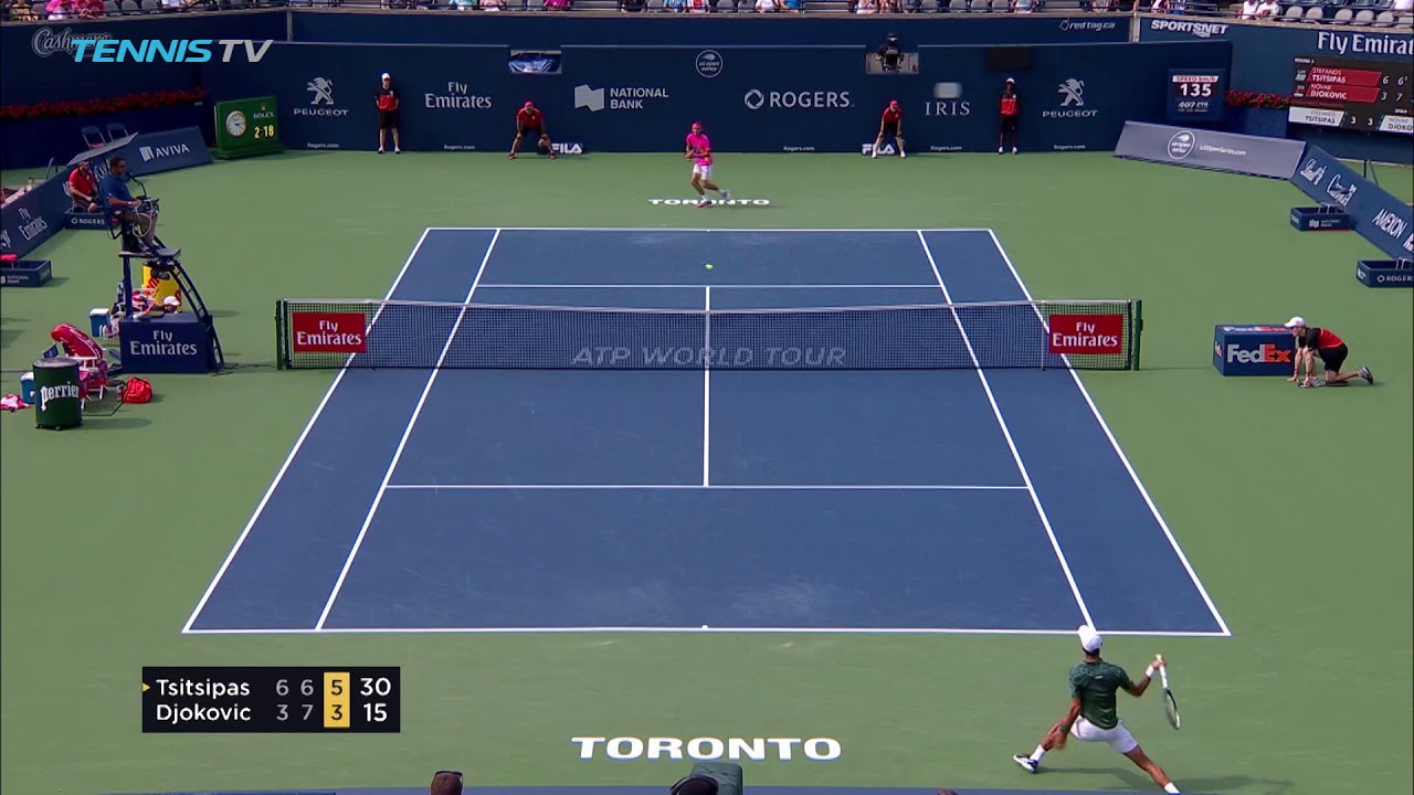 Hot Shot: Tsitsipas Wraps Beautiful Forehand Winner Past Djokovic Toronto 2018