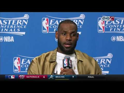 LeBron James postgame conference after Cavs beat Celtics in Game 2 | NBA Playoffs