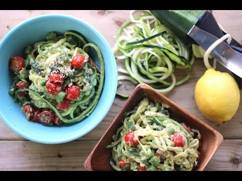 Creamy Avocado Zucchini Pasta | Healthy Summer Recipes