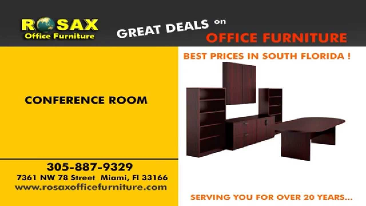 New Used Office Furniture In Miami Rosax International Youtube