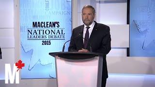 Mulcair on Canada and Iraq: Maclean's debate