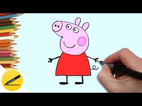 Как нарисовать свинку карандашом поэтапно для детей