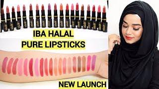 Iba Halal Pure Lips Moisturizing Lipstick Swatches- NEW LAUNCH | Ramsha Sultan