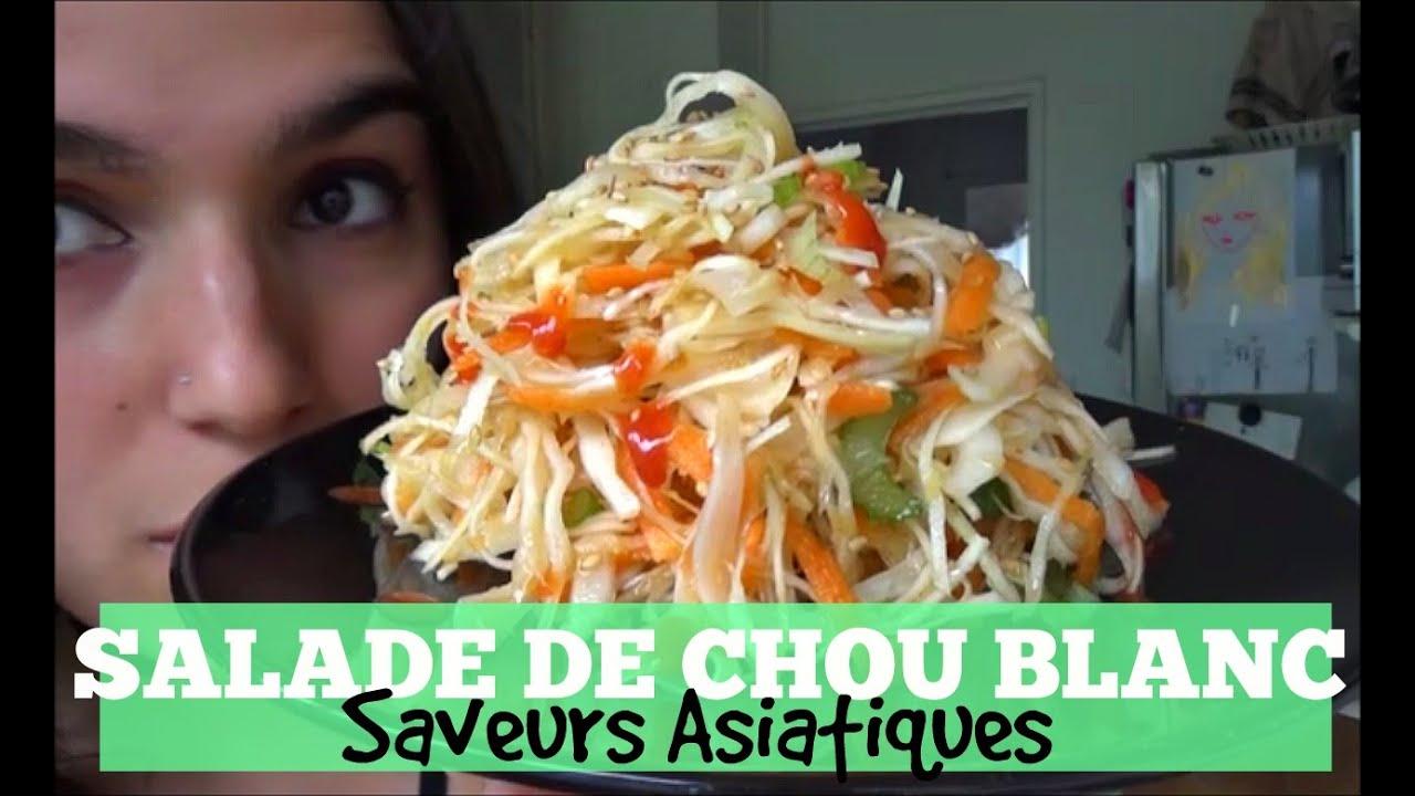 SALADE DE CHOU BLANC ASIATIQUE / VEGAN by Kaltrina - YouTube