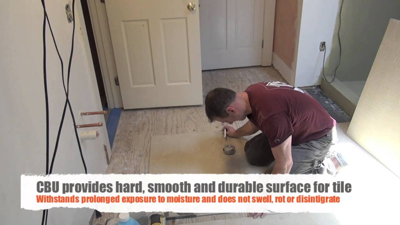 Tiling Bathroom Underlay remodeling a bathroom part 9 [installing tile underlayment] - youtube