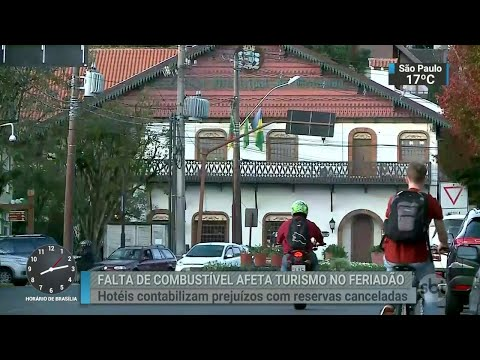 Falta de combustível não estava nos planos do brasileiro para o feriado | SBT Brasil (29/05/18)