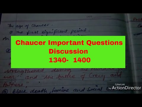 History of English literature notes 2 ॥dsssb॥ age of Chaucer॥ important age
