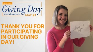 Thank you for participating in our Giving Day!