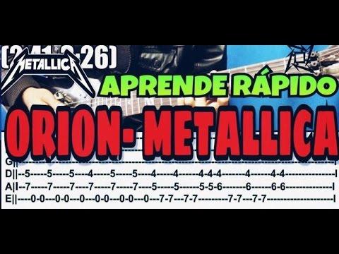 Como Tocar Orion de Metallica (Tutorial Rapido)  En Guitarra
